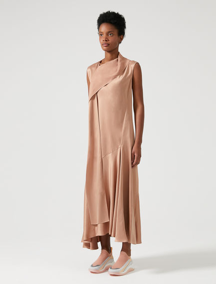 Washed Satin Bias-cut Dress