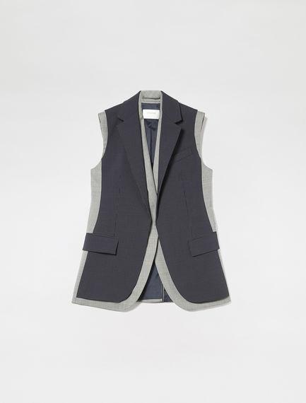 Sleeveless Pinstripe Jacket