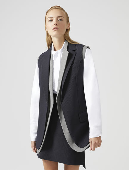 Sleeveless Pinstripe Jacket Sportmax