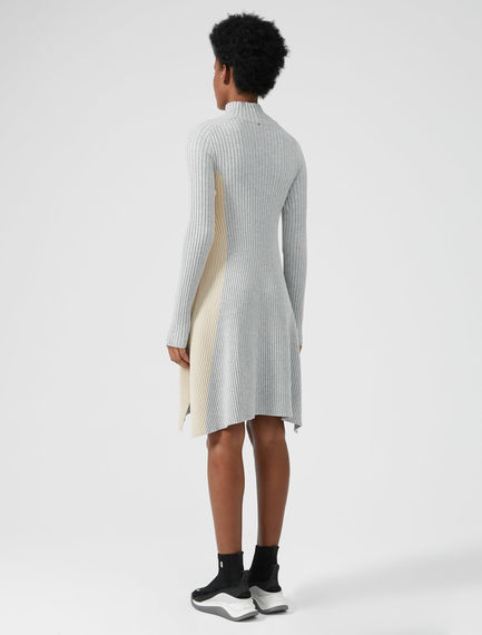 Colour-block Knit Dress