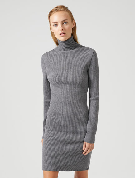 Ribbed Wool High-neck Dress Sportmax