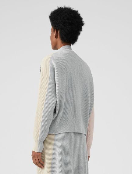 Colour-block Pastel Cardigan