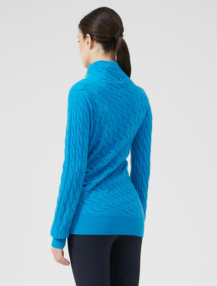 Braided Cashmere Sweater