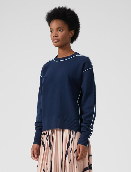 Technical Trim Angora Sweater