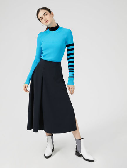Stripe Sleeve Viscose Sweater Sportmax