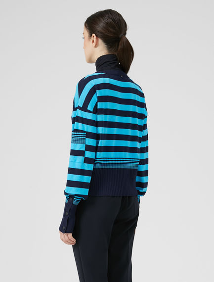 Bold Stripe Viscose Sweater