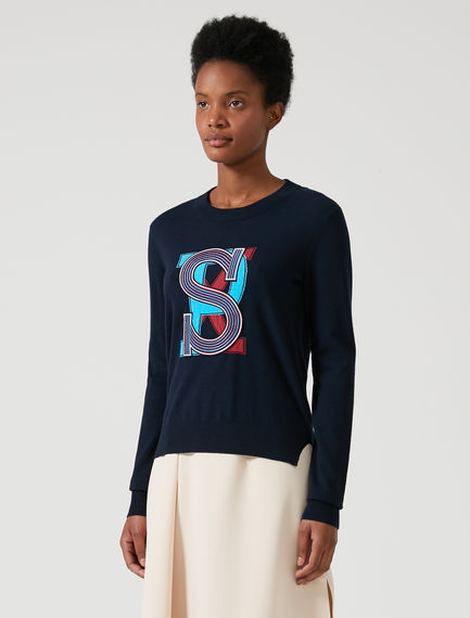 Varsity Wool Sweater Sportmax