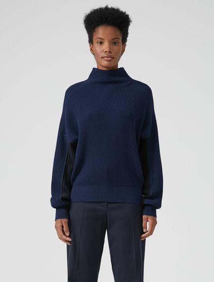 Colour-block Collegiate Sweater