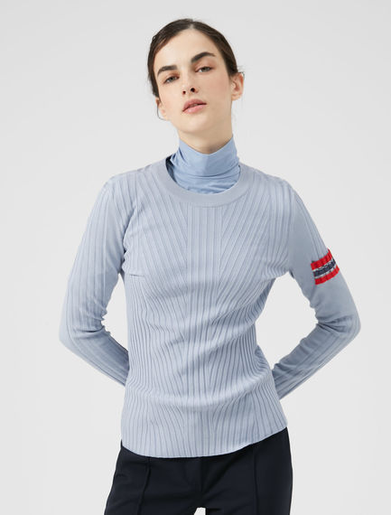 Patch Pocket Viscose Sweater Sportmax
