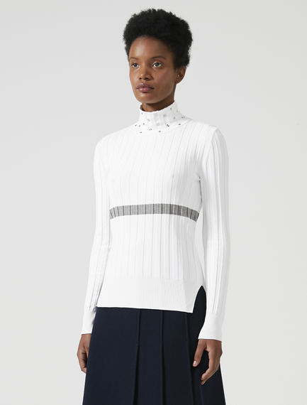 Ribbed Funnel Neck Top Sportmax