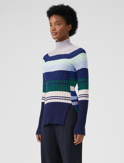 Multi-stripe Tetris Sweater