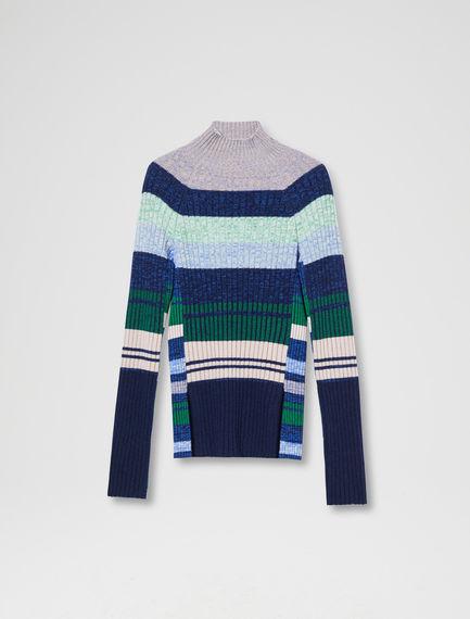 Multi-stripe Tetris Sweater