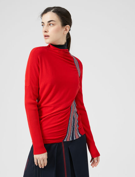 Racing Stripe Knit Sweater Sportmax