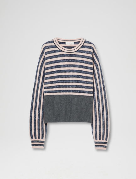 Dynamic Stripe Cashmere Sweater