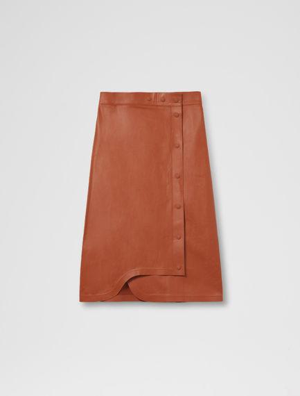 Asymmetric Leather Pencil Skirt