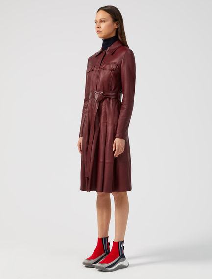 Nappa Leather Jacket Dress Sportmax