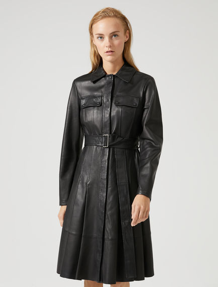 Nappa Leather Jacket Dress