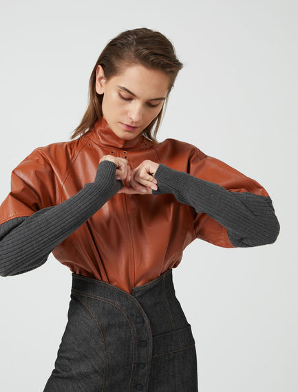 Leather Fusion Sweatshirt Top Sportmax