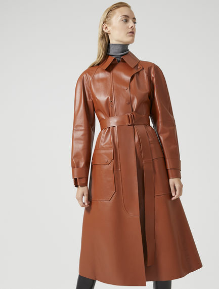 Nappa Leather Trench Coat Sportmax