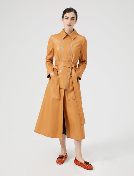 Transforming Leather Trench Coat Sportmax