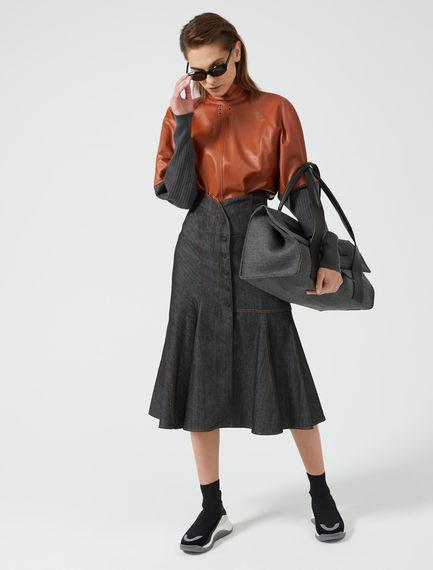 Fold-top Felted Bag