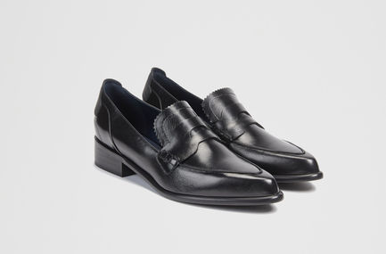 Calfskin Leather Loafers