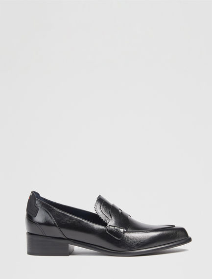 Calfskin Leather Loafers Sportmax