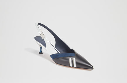 Sculpted Heel Calfskin Sling Backs Sportmax