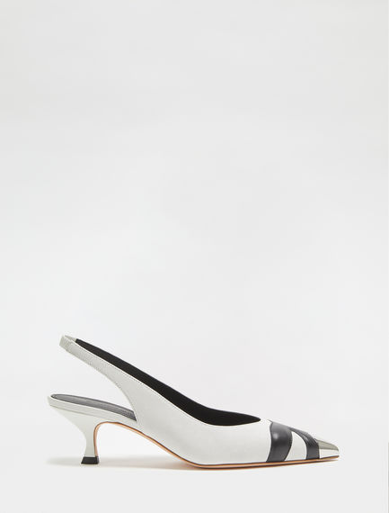 Monochrome Leather Kitten Heel Sportmax