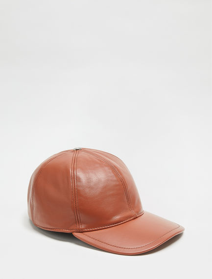 Leather Baseball Cap Sportmax