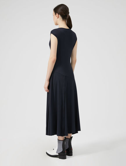 Organza & Viscose Split-side Dress