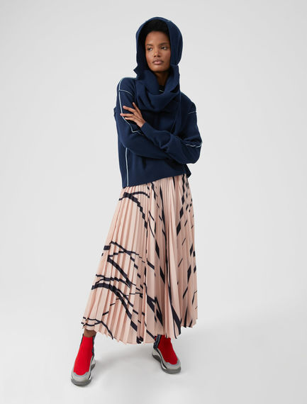 Drawstring Angora Hood