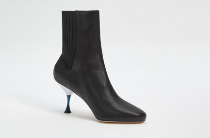 Sculpted Leather Sock Boot Sportmax