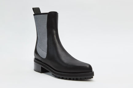 Calfskin Leather Chelsea Boot