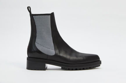 Calfskin Leather Chelsea Boot Sportmax