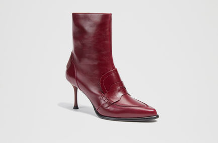 Calfskin Loafer Stiletto Boots