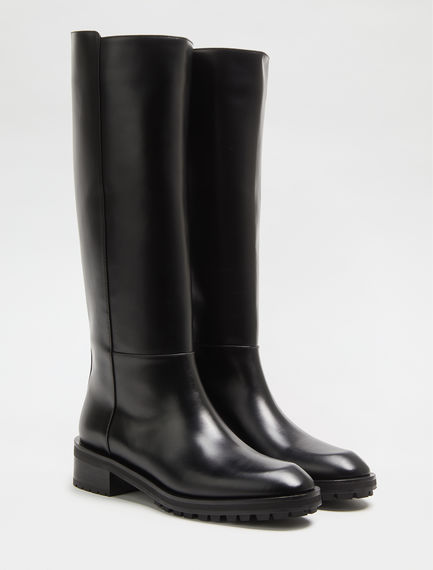 Laminated Leather Boots Sportmax