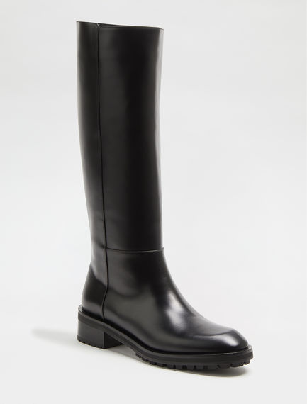 Laminated Leather Boots