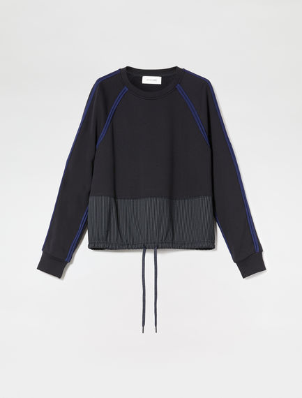 Trimmed Crew-neck Sweatshirt