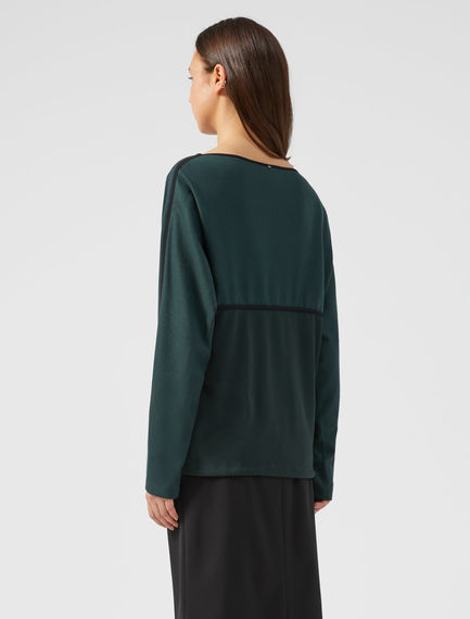 Fluid Two-tone Drawstring Top Sportmax