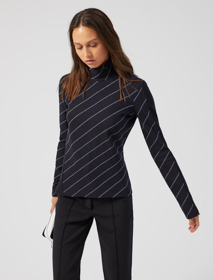 Double Stripe Jersey Top