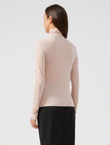 Mock Polo Neck Jersey Top