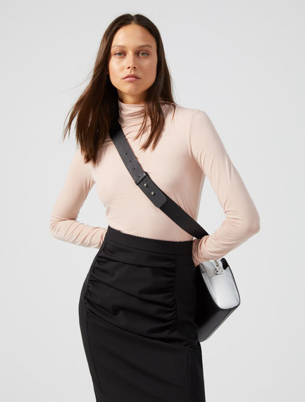 Mock Polo Neck Jersey Top Sportmax