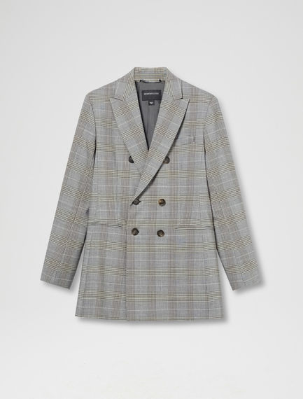 Checked Asymmetric Blazer Sportmax