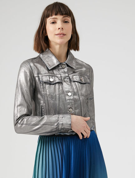 Giubbotto in denim silver Sportmax