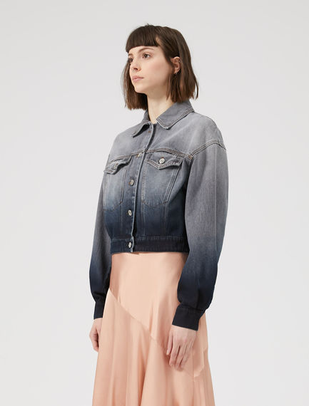 Faded & Cropped Denim Jacket Sportmax