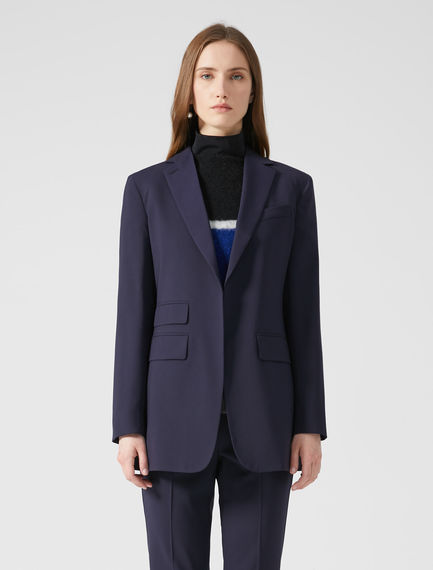 Asymmetric Pocket Wool Blazer Sportmax