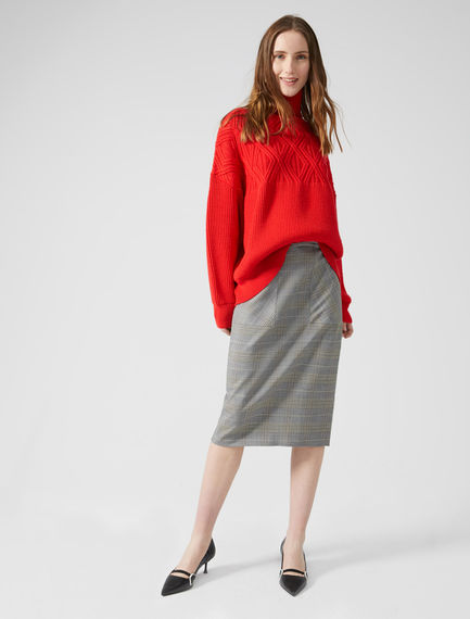 Heritage Check Pencil Skirt