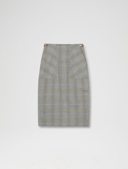 Heritage Check Pencil Skirt Sportmax
