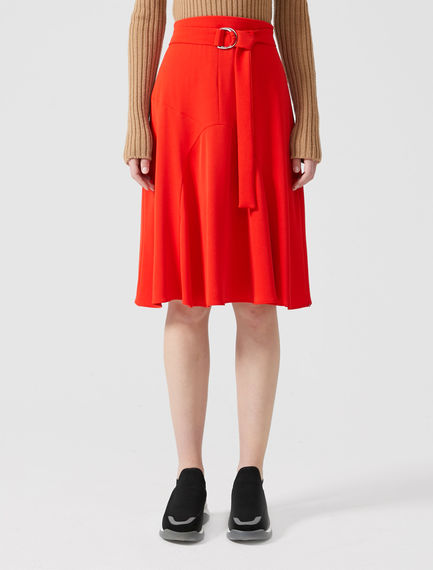 Block Colour Ripple Skirt